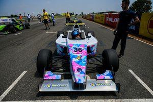 Mira Erda on the starting grid