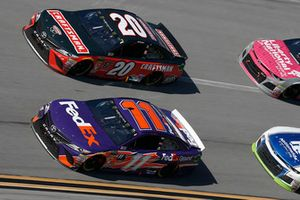 Denny Hamlin, Joe Gibbs Racing, Toyota Camry FedEx Ground Erik Jones, Joe Gibbs Racing, Toyota Camry Craftsman