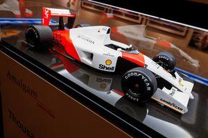Un modellino Amalgam di una monoposto McLaren di F1