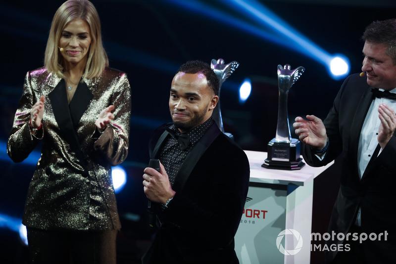Nicolas Hamilton no Autosport Awards de 2018