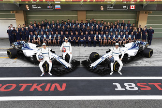 The Williams Racing team photo