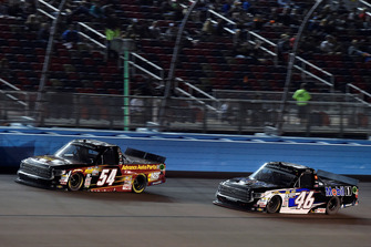 Riley Herbst, DGR-Crosley, Toyota Tundra Advance Auto Parts / Terrible Herbst / NOS / ORCA and Christian Eckes, Kyle Busch Motorsports, Toyota Tundra Mobil 1