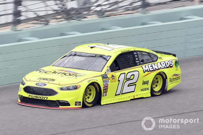 15. Ryan Blaney, Team Penske, Ford Fusion Menards/Richmond