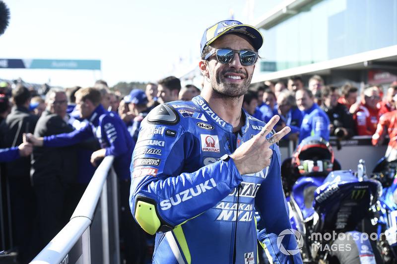 Segundo clasificado Andrea Iannone, Team Suzuki MotoGP