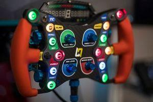 Steering wheel simulator detail