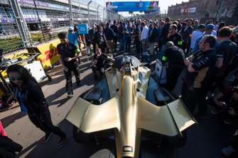 The car of Jean-Eric Vergne, DS TECHEETAH, DS E-Tense FE19, on the grid