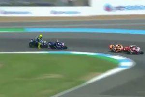 Valentino Rossi in lotta con Maverick Viñales