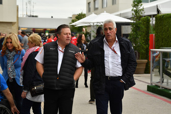 Zak Brown, McLaren Racing CEO en Lawrence Stroll, Racing Point Force India eigenaar