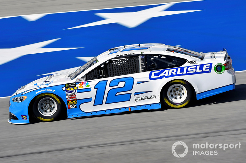 1. Ryan Blaney, Team Penske, Ford Fusion Accella/Carlisle