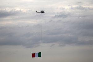 La bandera tricolor de Italia