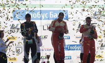 Подіум GT Open2: Владислав Феоктистов, Андрій Євтушенко, Юрій Мочанов