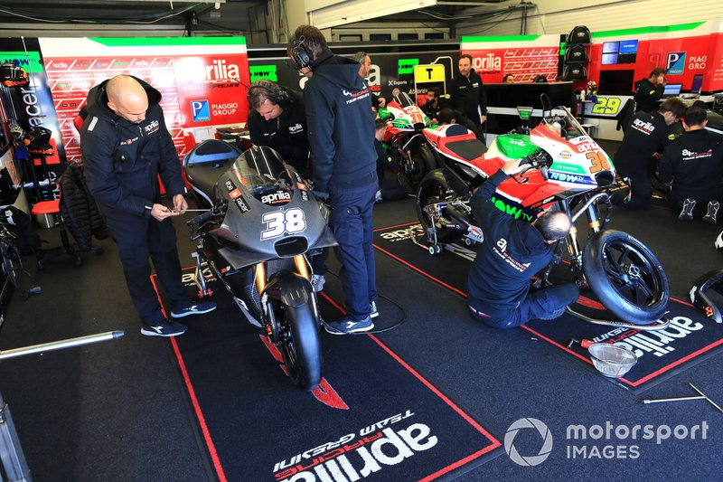 Bradley Smith's Aprilia garage