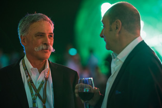 Chase Carey with Bruno Michel