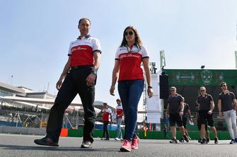 Tatiana Calderon, Sauber Test Driver walks the track