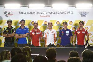 Hafizh Syahrin, Monster Yamaha Tech 3, Andrea Iannone, Team Suzuki MotoGP, Andrea Dovizioso, Ducati Team, Marc Marquez, Repsol Honda Team, Maverick Viñales, Yamaha Factory Racing, Jorge Lorenzo, Ducati Team