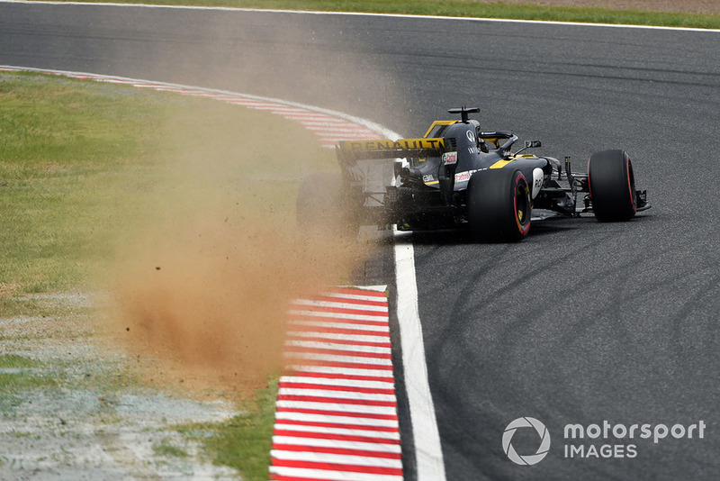 Tête-à-queue et accident pour Nico Hulkenberg, Renault Sport F1 Team R.S. 18