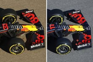 Red Bull RB16B front wing comparison