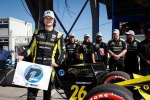 Обладатель поула Колтон Херта, Andretti Autosport Honda