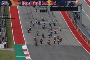 Start zum Moto2-Rennen auf dem Circuit of The Americas in Austin 2021