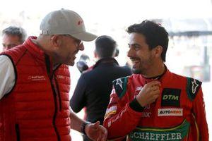 Chris Reinke, Head of Audi Sport Customer Racing and Lucas di Grassi, Abt Sportsline