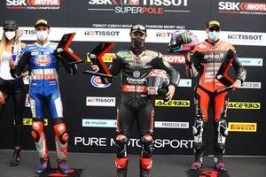 Top 3, Toprak Razgatlioglu, PATA Yamaha WorldSBK Team, Jonathan Rea, Kawasaki Racing Team WorldSBK, Scott Redding, Aruba.It Racing - Ducati