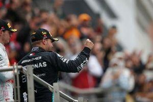 Valtteri Bottas, Mercedes, 1st position, arrives on the podium