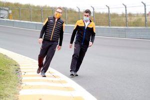Andreas Seidl, Team Principal, McLaren walks the track