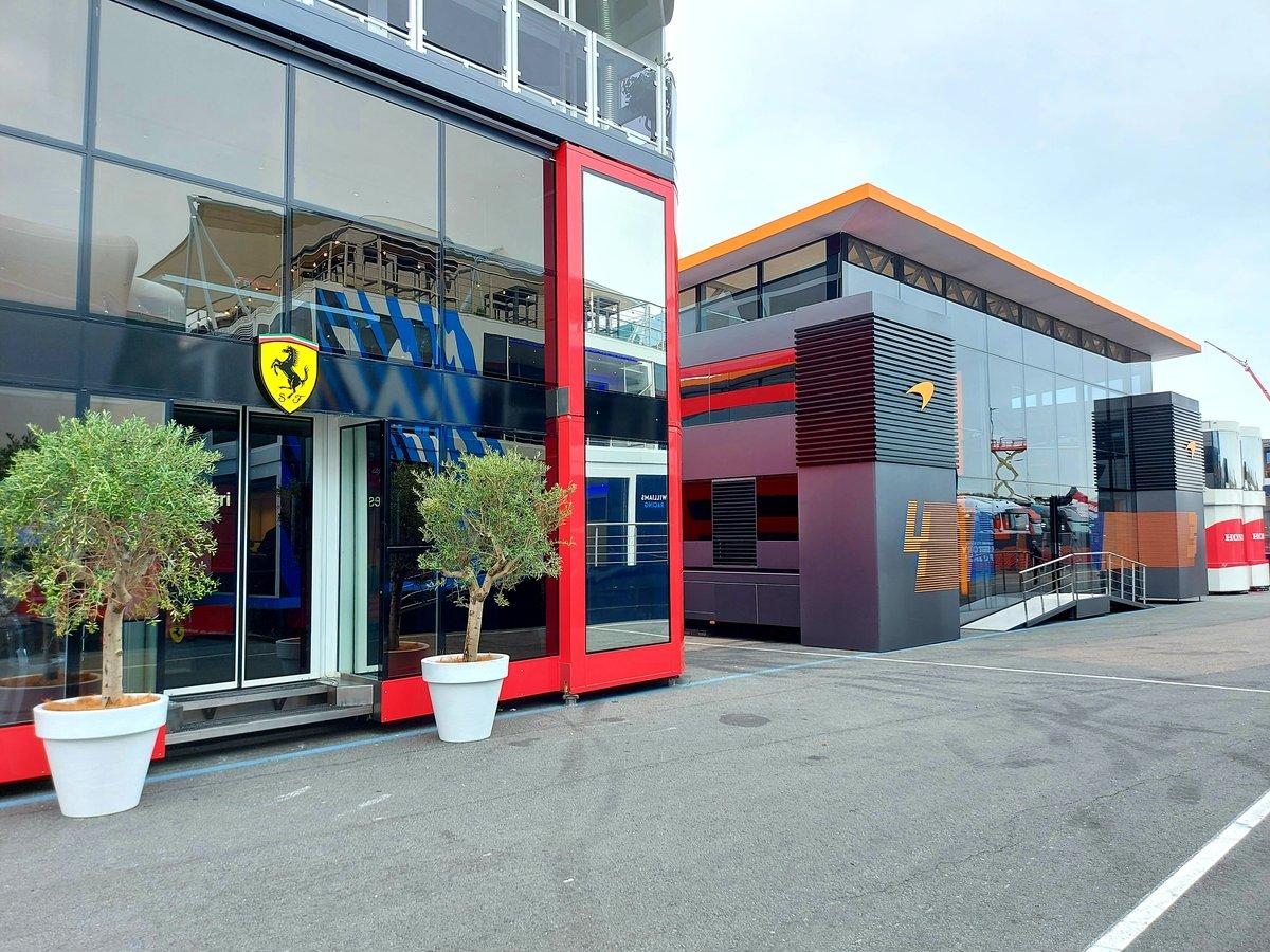 El paddock del circuito de Zandvoort