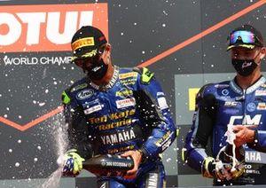 1. Dominique Aegerter, Ten Kate Racing Yamaha, 3. Luca Bernardi, CM Racing