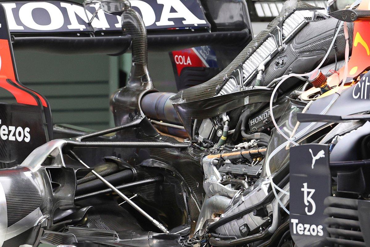 Motor del RB16B de Red Bull Racing
