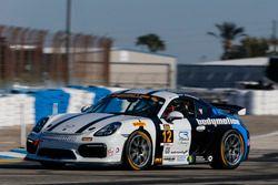 #12 Bodymotion Racing Porsche Cayman GT4: Cameron Cassels, Trent Hindma