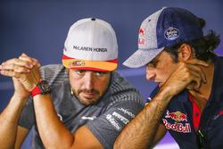 Fernando Alonso, McLaren, Carlos Sainz Jr., Scuderia Toro Rosso, basın toplantısı