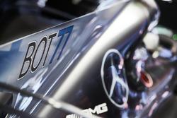 Nueva marca de los pilotos en el coche de Valtteri Bottas, Mercedes AMG F1 W08