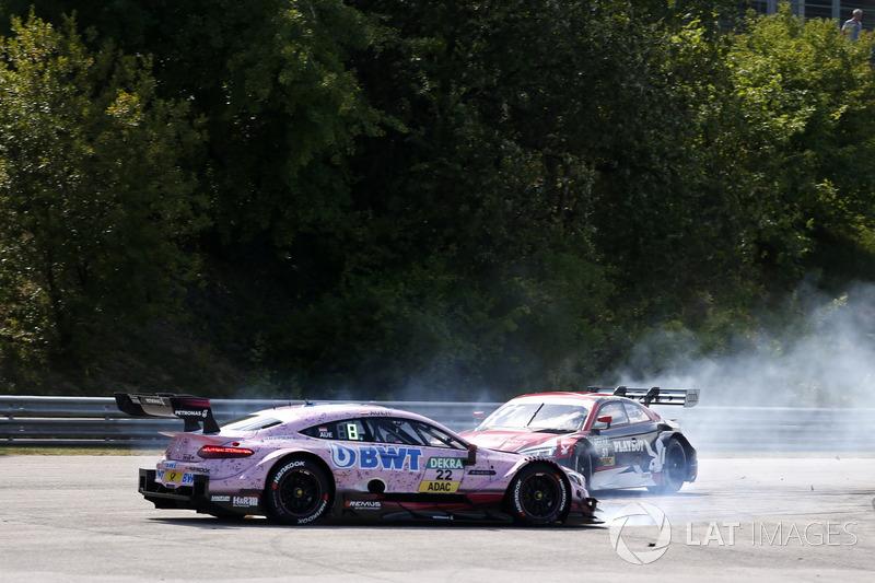 Unfall: Lucas Auer, Mercedes-AMG Team HWA, Mercedes-AMG C63 DTM, Nico Müller, Audi Sport Team Abt Sportsline, Audi RS 5 DTM