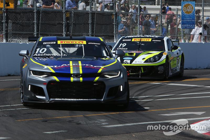 #10 Blackdog Speed Shop Chevrolet Camaro GT4.R: Lawson Aschenbach, #19 Performance Motorsports Group Ginetta G55: Parker Chase