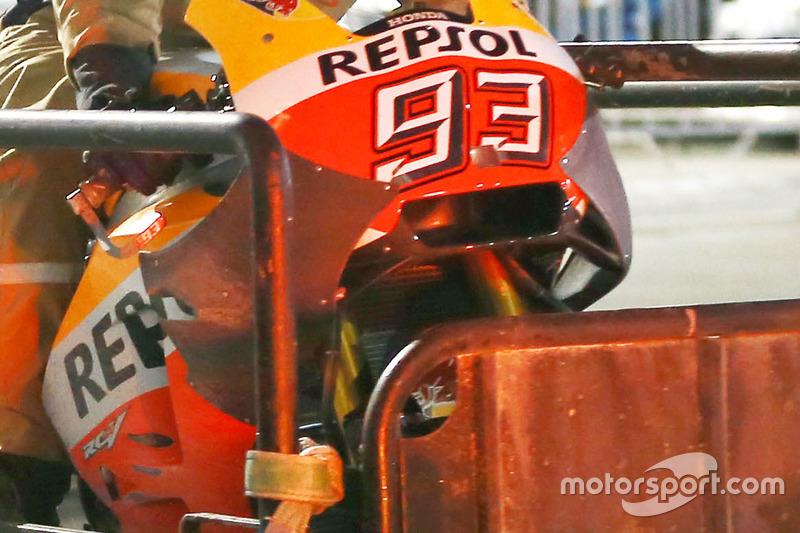 Марк Маркес, Repsol Honda Team, нові аеродинамічні додатки/вінглети після аварії