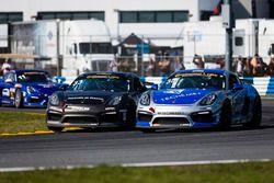 #35 CJ Wilson Racing Porsche Cayman GT4: Russel Ward, Damien Faulkner, #33 CJ Wilson Racing Porsche