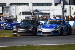 #35 CJ Wilson Racing, Porsche Cayman GT4: Russel Ward, Damien Faulkner; #33 CJ Wilson Racing, Porsch