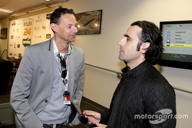 Charles Bradley, Motorsport.com con Dario Franchitti, Grand Marshal