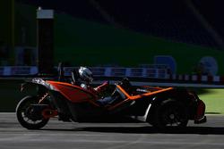 Sebastian Vettel driving the Polaris Slingshot SLR