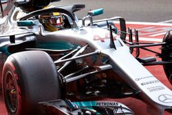 Lewis Hamilton, Mercedes AMG F1, avec le Halo
