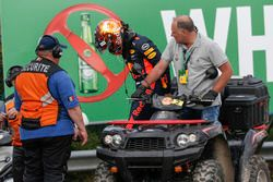Abandon pour Max Verstappen, Red Bull Racing