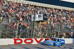 Johnny Sauter, GMS Racing Chevrolet takes the checkered flag and the win