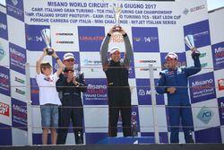 Podio TCT Gara 2: Ricci-Bernazzani, Sport & Comunicazione by Autostar; Massimo Arduini, Arduini Cors
