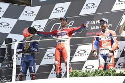 Podium: Maverick Viñales, Yamaha Factory Racing, Andrea Dovizioso, Ducati Team, Danilo Petrucci, Pramac Racing