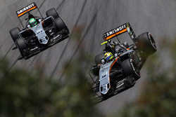 Серхио Перес, Sahara Force India F1 VJM09, и Нико Хюлькенберг, Sahara Force India F1 VJM09