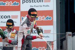 Podium: #1 Montaplast by Land-Motorsport, Audi R8 LMS: Connor De Phillippi