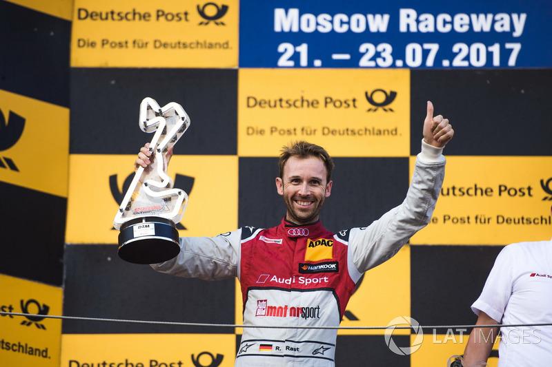 Подіум: переможець гонки Рене Раст, Audi Sport Team Rosberg, Audi RS 5 DTM