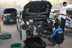 Volkswagen mechanic at work