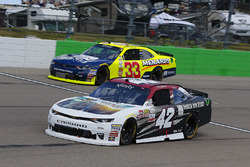Tyler Reddick, Chip Ganassi Racing Chevrolet and Brandon Jones, Richard Childress Racing Chevrolet